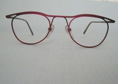 Vintage Brillenfassung metall MEGA IN BY HIGHLIGHTS Optiker Auflösung rot/pink