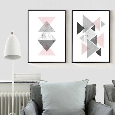 Geometric Abstract Poster Prints Wall Art Canvas Painting Modern Home Decor