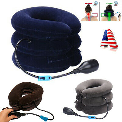 Neck Massager Brace Support Cervical Air Inflatable Health Therapy Pain Relief