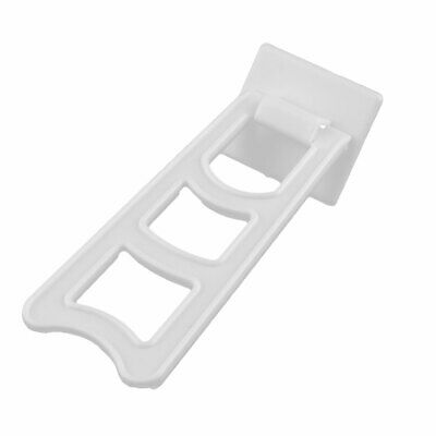 Home Plastic Trapezoid Shaped Display Holder Photo Frame Stands White 4 Sets