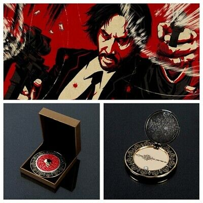 JohnWick 3 Blood Oath Badge MarkerAccessories Cosplay Replica Prop Collection