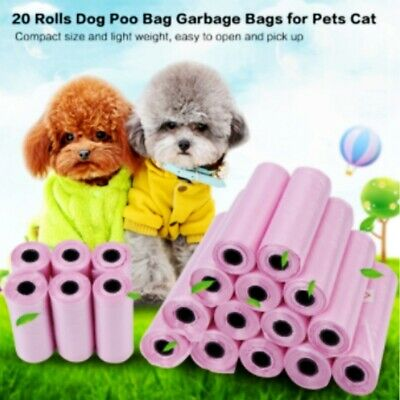10Roll 150pcs Degradable Pet Waste Poop Bag Dispenser Dog Garbage Bag Scooper
