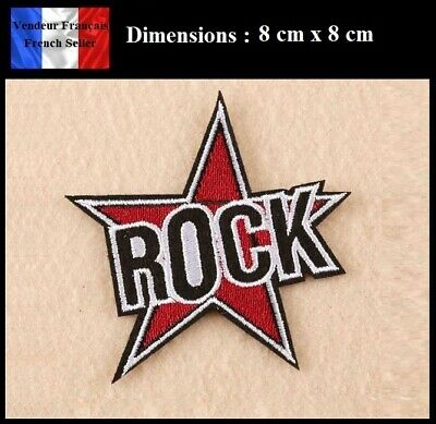 Écusson Brodé Thermocollant NEUF ( Patch Embroidered ) - Rock Musique Music