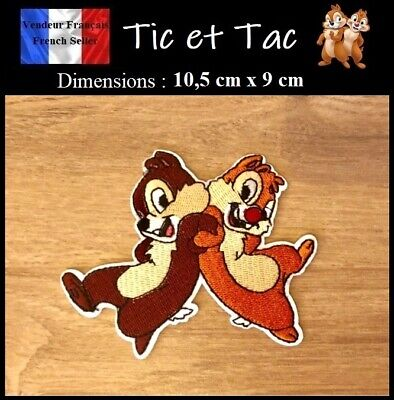 Écusson Brodé Thermocollant NEUF ( Patch Embroidered ) Tic et Tac Chip and Dale