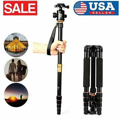 Q666 Portable Aluminum Tripod Monopod Travel Ball Head For SLR DSLR Camera TN