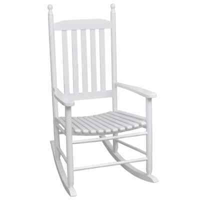 Rocking Chair with Curved Seat Wood White