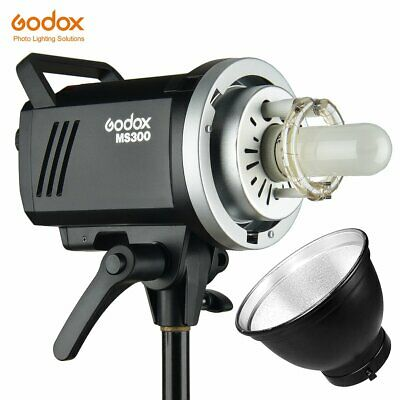 Godox MS300 300W GN58 2.4G Wireless Compact Studio Flash Bowens Mount +Reflecter