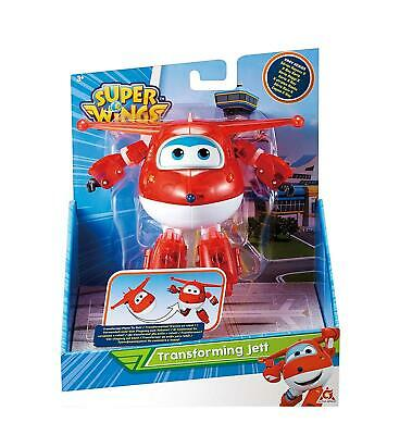 Super Wings Transforming Vehicle  Jett Plane Bot Figure X-ray Series 5''