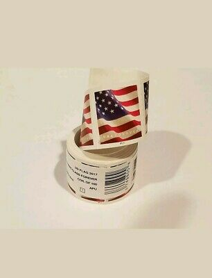 Usps Forever Stamps 2017 Us Flag 5 Rolls/Coils 500 First Class Postage