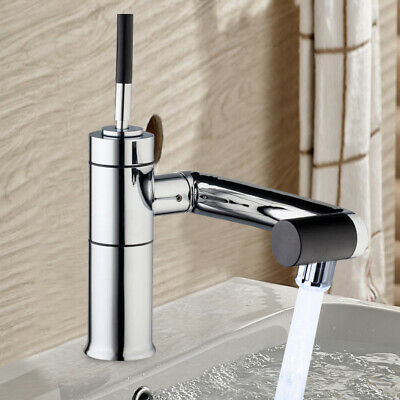Kitchen Basin Sink 360°Spout Swivel Faucet Spray Hot & Cold Water Mixer Tap