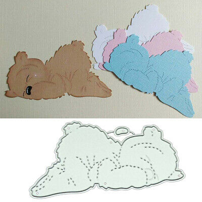 Sleep Bear DIY Metal Cutting Dies Stencil Scrapbooking Album embossage Crafts