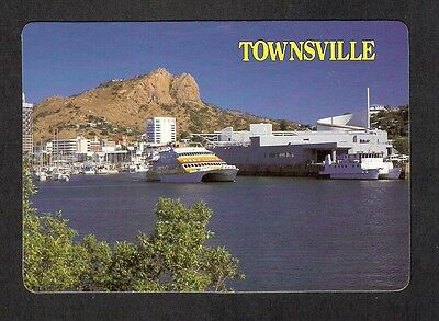 QLD - c1980s POSTCARD - ROSS CREEK LOOKING TOWARDS CASTLE HILL, TOWNSVILLE, QLD
