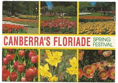 ACT - c1990s POSTCARD - CANBERRA'S FLORIADE SPRING FESTIVAL, ACT
