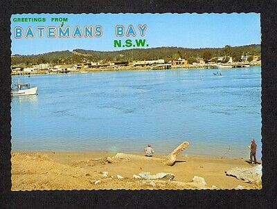 NSW - c1980s POSTCARD - BATEMANS BAY FROM NORTH OF BRIDGE, NEW SOUTH WALES