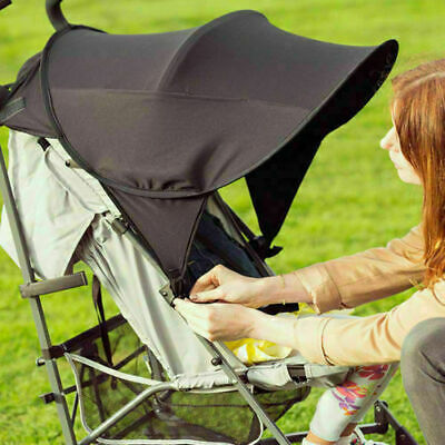 Black Universal Baby/Child Sun Shade Canopy Cover Pushchair Stroller Pram Buggy