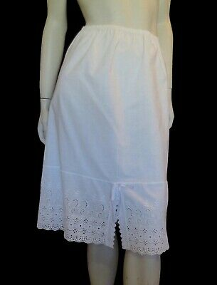 Vintage Half Slip, Petticoat, With Broderie Anglaise, Eyelet Border -1960s