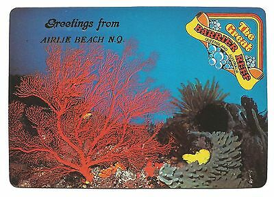 QLD - c1980s POSTCARD - RED GORGONIA CORAL, THE GREAT BARRIER REEF, QUEENSLAND