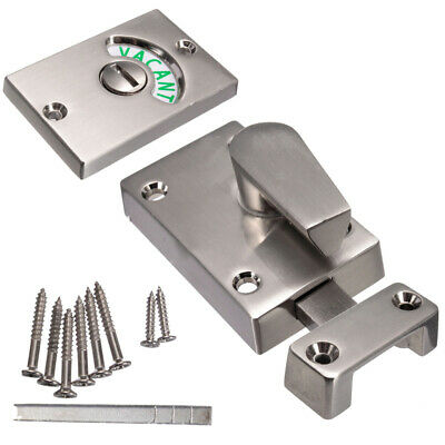 Practical WC Vacant & Engaged Toilet Bathroom door lock Indicator bolts AU STOCK