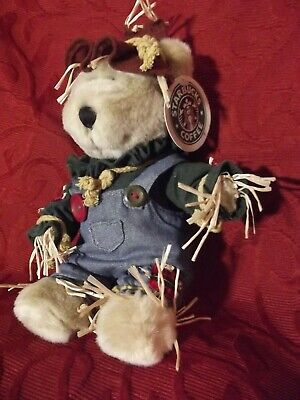 Starbucks Coffee Co Bearista Bear Plush Scarecrow 16th Edition 10'' Stuffed Toy