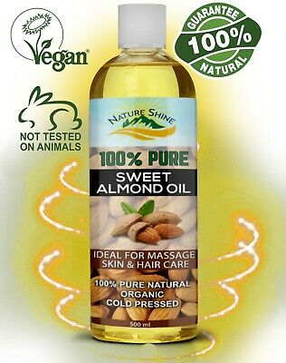 Nature Shine Sweet Almond Oil Ideal for Massage, Skincare & Haircare 500ml