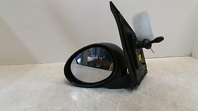 2010 Peugeot 107 Mk1 Passenger Door Mirror Manual Adjust Blue