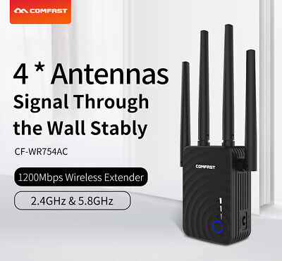 1200Mbps Dual Band Wireless Range Extender WiFi Repeater Router Signal Booster