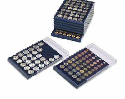 Safe Albums Coin trays stackable storage drawer cases up to 80 coins per insert.