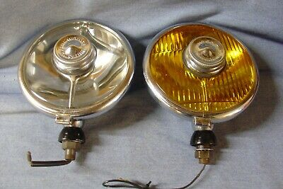 "Ideal Ford Butlers Saucer Spot And Yellow Fog Lamp 6""  Refurbished"