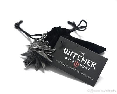 Blackpouch+ Neuf The Witcher 3 Chasse Sauvage Yeux Noir Collier Médaillon