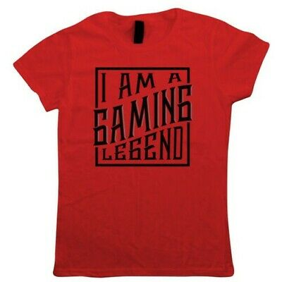 I am a Gaming Legend, Womens T Shirt - PWN Master gaming Gift Her