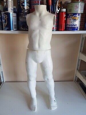 Full Size Male Child Plastic Body Form Shop Display Mannequin Dummy Flexible Tor