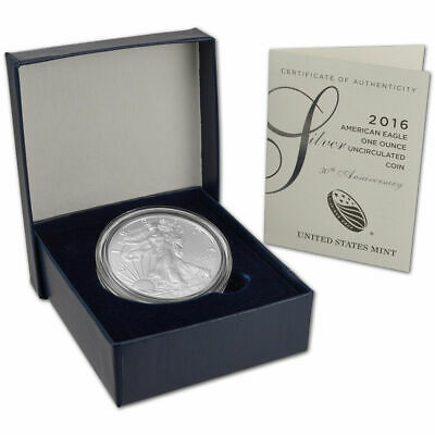 2016 W American Eagle One Ounce Silver Uncirculated Coin 30th Anniversary