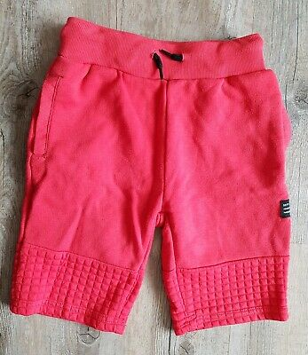 Children's Boys Plain Red Shorts Tracksuit Bottoms Jogging Primark Age 6-7 Years