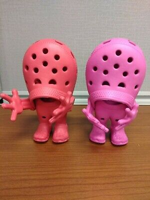 Lot of 2 - CROCS Croslite Pink & Red Advertising Figurines Action Figures Toys