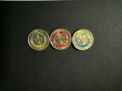 Australia 2018 $2 Commonwealth Games - Gold Coast coin set - Week 1,2 & 3.