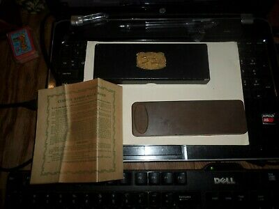 1905 AM.HONE CO. Barbers Straight Razor Strop Cushion Back Hone Box & Paperwork