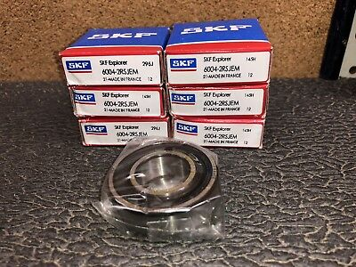SKF 6004-2RSJEM Bearing Lot of 6! 42MM DIA. 20MM BORE. 12MM WIDTH