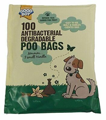 Armitage Good Boy Antibacterial Degradable Scented Dog Poo Bags - Pack of 100