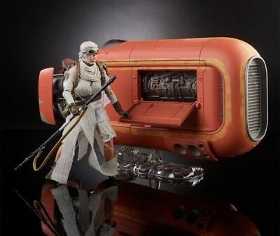 STAR WARS The Black Series Reys Speeder Jakku Figure