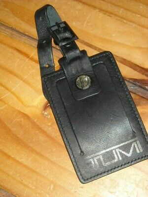 Tumi Luggage Tag leather bag tag Carry-On business card holder