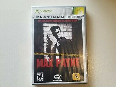 Max Payne (Microsoft Xbox, 2001), Platinum hits, Tested, Working.