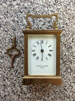 Antique Mappin And Webb London Carriage Clock