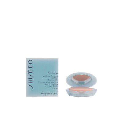 Maquillaje Shiseido mujer PURENESS matifying compact #10-light ivory 11 gr