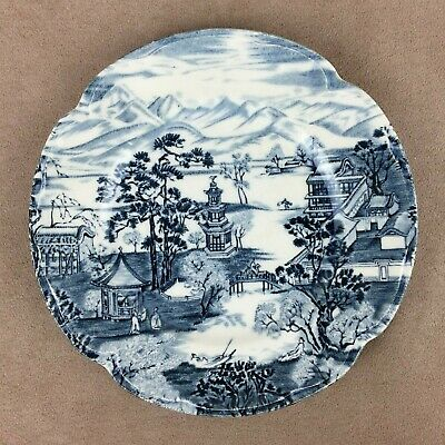 Johnson Brothers Enchanted Garden Bread Butter Plate Blue 6-3/8 Inch England