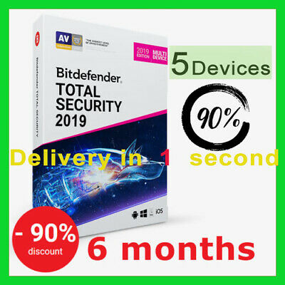 Bitdefender Total Security 2019- 5 Devices | 6 Months- FAST DELIVERY