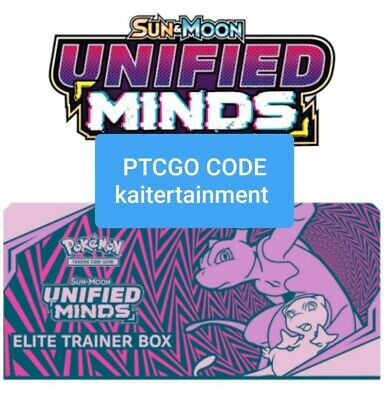 Pokemon Unified Minds TCG Elite Trainer Deck Box & Sleeves  FAST DELIVERY PTCGO