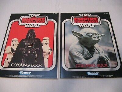 2 Vintage unused Star Wars The Empire Strikes Back Coloring Books 1982 Kenner