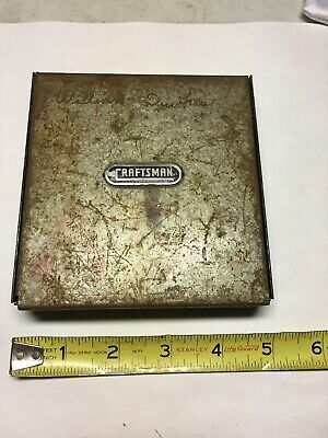 Vtg Metal Craftsman Automatic Drill bit Case Index And With Bits RARE@@@@@