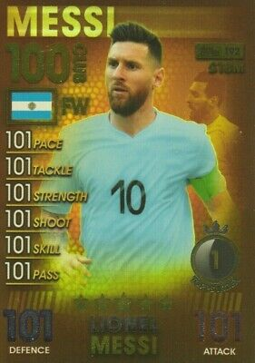 Match Attax 101 2019 Lionel Messi 100 101 Hundred Club No 192 Mint