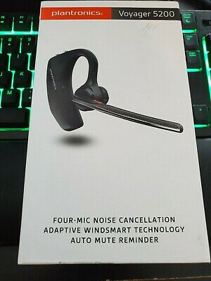 Plantronics Voyager 5200 Bluetooth Headset With WindSmart Technology & HD Voice